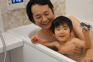 笑顔でお風呂に入れる